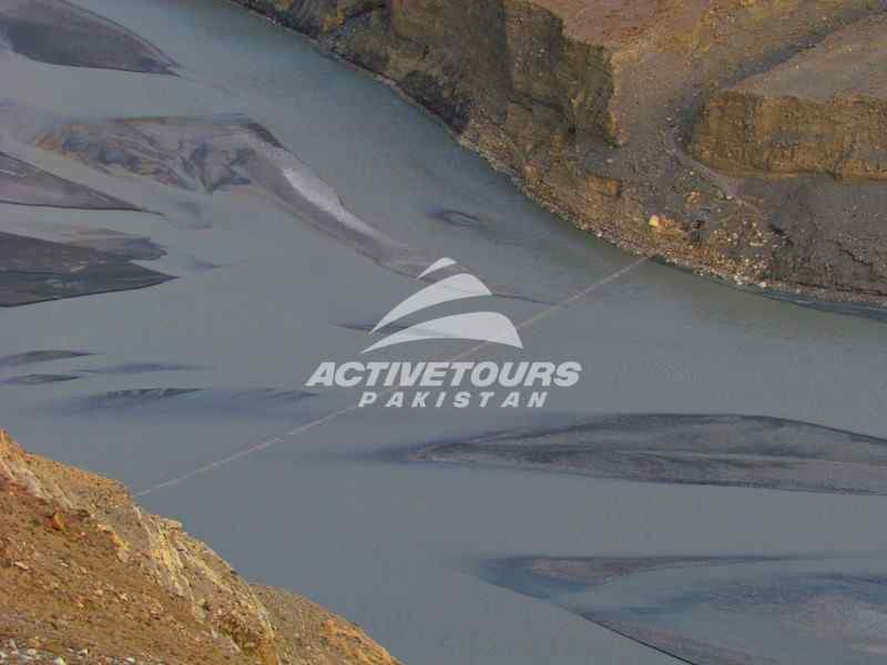 Patondas trek, gulkin glacier crossing, walk on passu suspension bridge