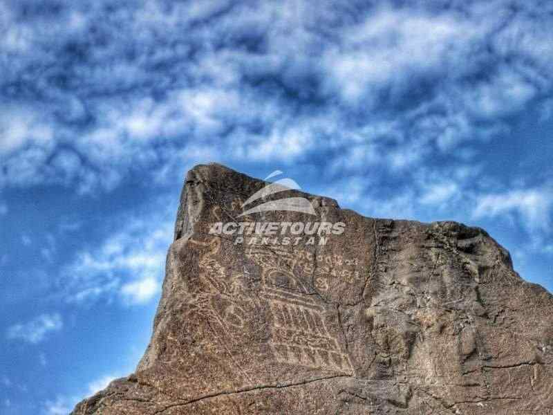 Chilas Rock carving in Gilgti-Baltistan, Pakistan