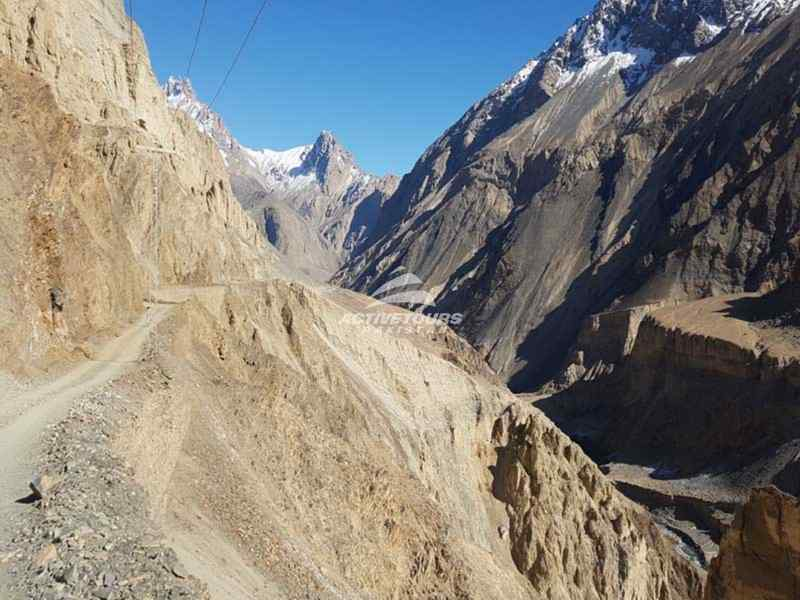 Road to Shimshal, rough road to Shimshal