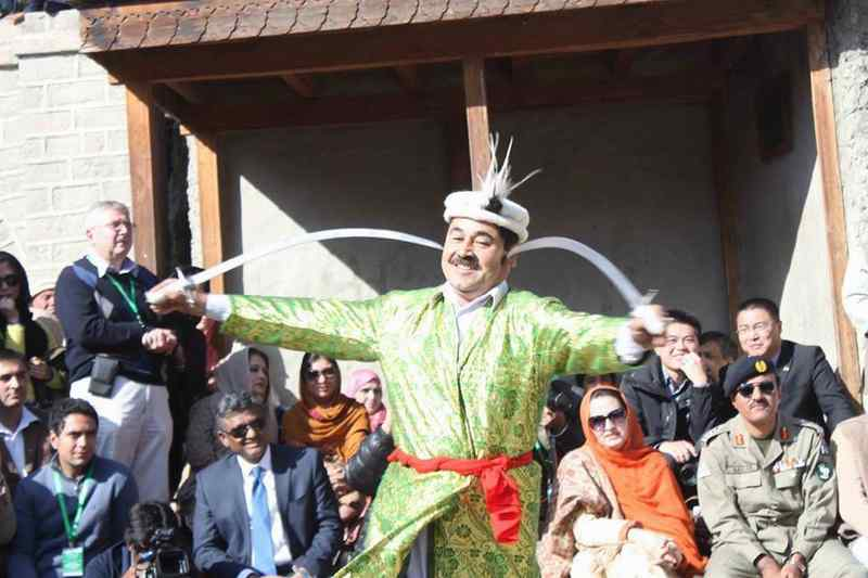 music, dance, bonfire during Silk Road Festival Celebration in Gilgit, Baltistan