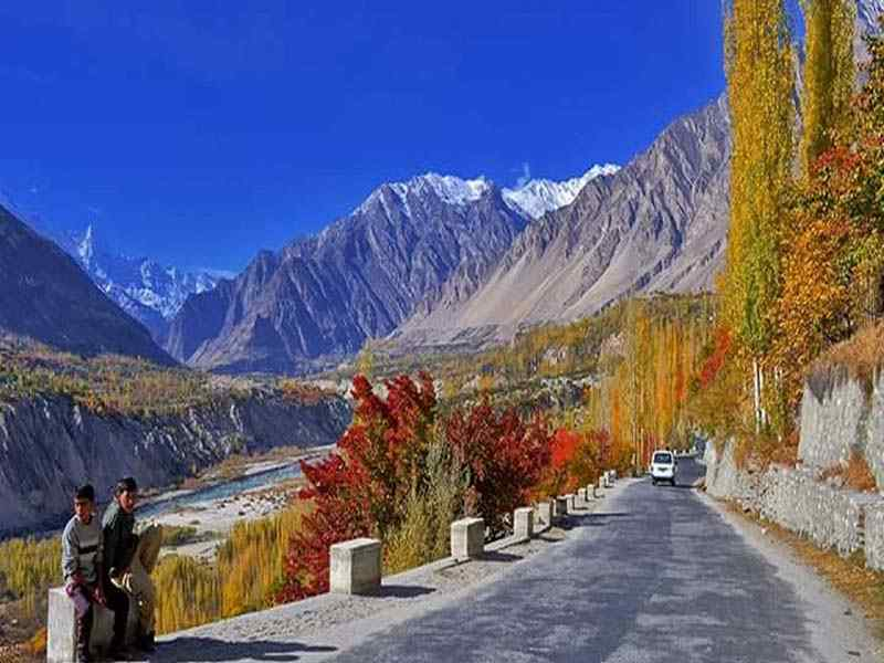 trip to Hunza in the autumn season