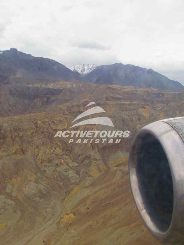 scenic views from the flight to Gilgit