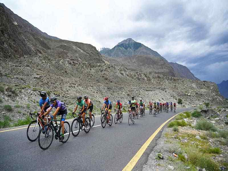 women can biking in Pakistan
